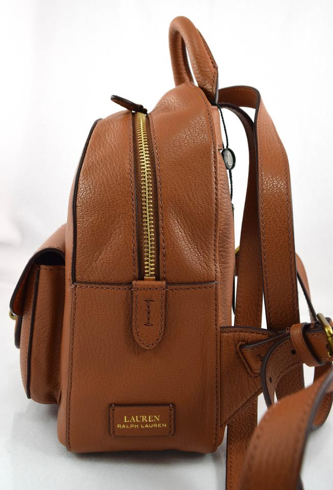 43dcbdf2f64a Ralph Lauren Millbrook Small Brown Tan Leather Backpack - Tradesy