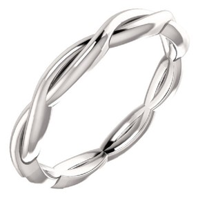 Apples of Gold Braided Infinity Band In 14k White Ring