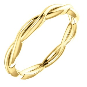 Apples of Gold Woven Infinity Band In 14k Ring