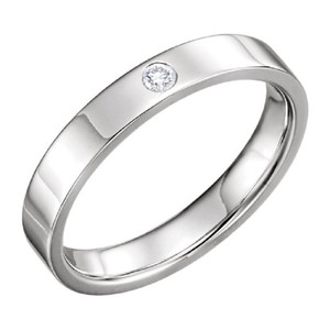 Apples of Gold 4mm Flat Diamond Band 14k White Ring