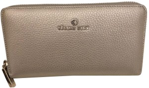 Celine Dion NEW CELINE DION Adagio Leather Wallet In Silver