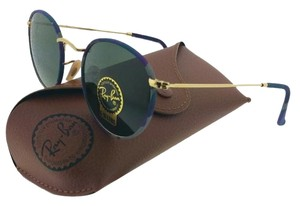 Ray-Ban RB3447JM-172 Round Unisex Multi-Gold Frame Green Lens 50mm Sunglasses