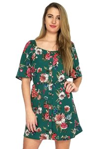 Blu Pepper short dress green The Flowers That Be on Tradesy