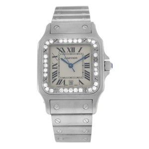 Cartier Ladies Unisex Cartier Santos Galbee 1564 Steel Diamond 29MM Quartz Wat
