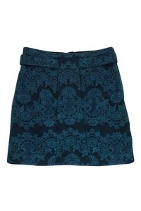 Robert Rodriguez Lace Mini Skirt Green