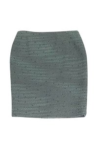 Escada Mint Grey Tweed Skirt