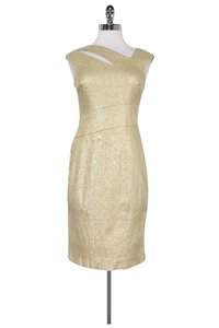 Kay Unger short dress gold Fitted W/ Cut Outs on Tradesy