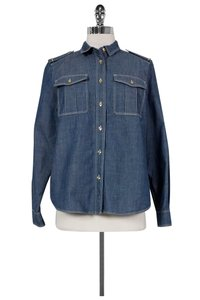 Burberry Brit Chambray Button Down Shirt Blue