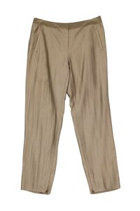 Lafayette 148 New York Satin Straight Pants gold