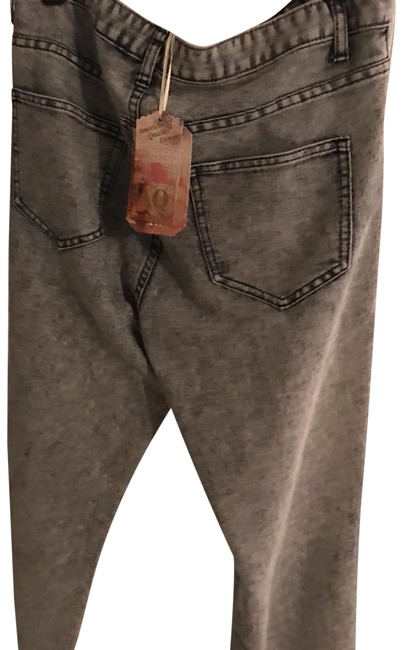 Item - Faded Gray Distressed Quality Denim Relaxed Fit Jeans Size 35 (14, L)