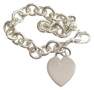 """Tiffany & Co. GORGEOUS!! Tiffany & Co. Heart Tag Bracelet Sterling Silver 7.5"""" Engravable!!! 100% Authentic Guaranteed!!! Comes with Original Tiffany Pouch and Tiffany Blue Colored Polishing Cloth!!!"""