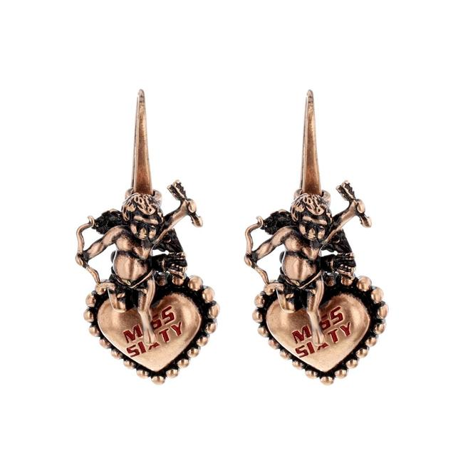 """Item - Bronze """"Orecchini"""" Collection Cupid with Heart Ladies Earr Earrings"""