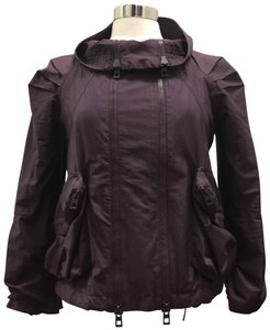 adidas By Stella McCartney Plum Purple Double Zip Windbreaker Active Top