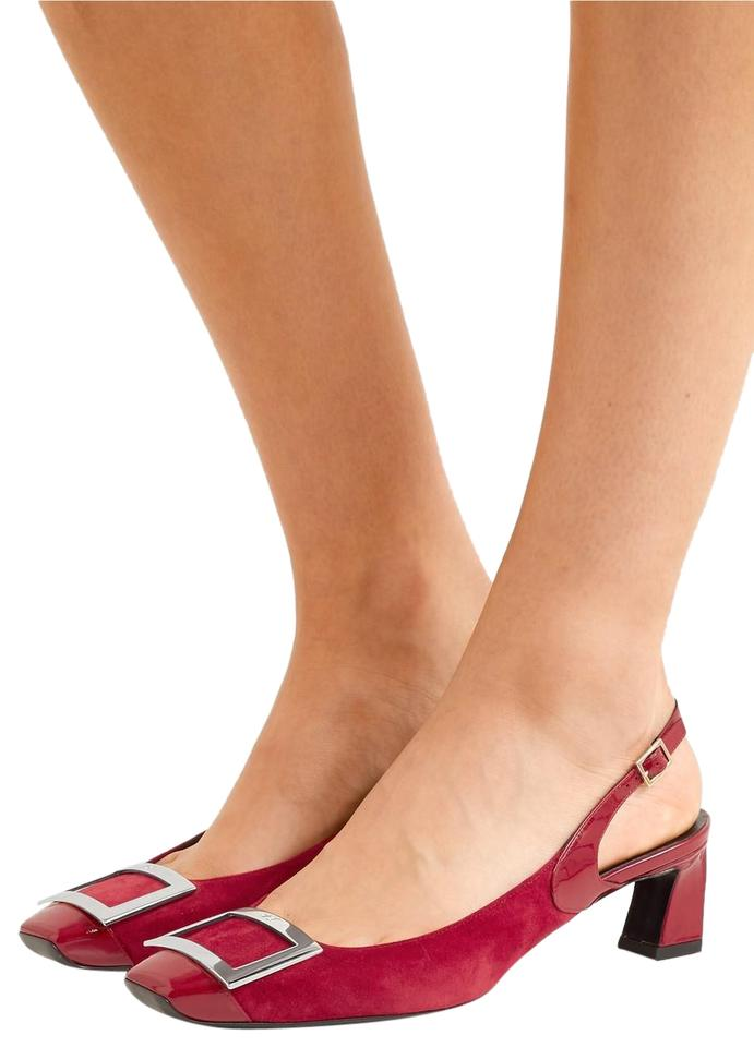 40cd60aec01 Roger Vivier Trompette Suede and Patent-leather Slingback Pumps Flats Size  EU 38 (Approx. US 8) Regular (M, B)