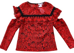 Red Carter Top black, Red