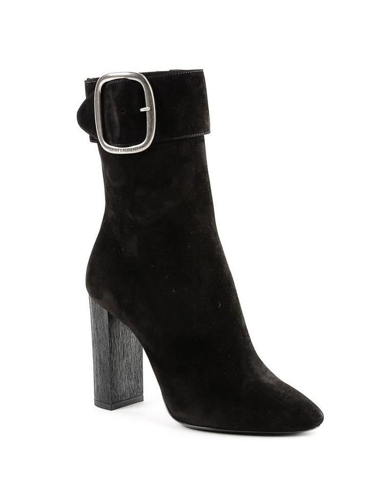 4da5fb78586 Saint Laurent Nero Joplin 105 Ankle Boots/Booties Size EU 36 (Approx ...