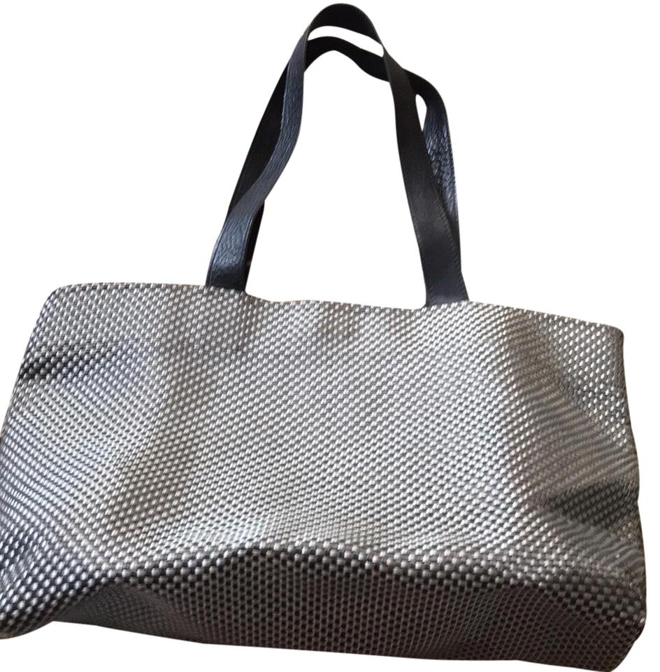 Chilewich Bag Large Black And Gray Tote
