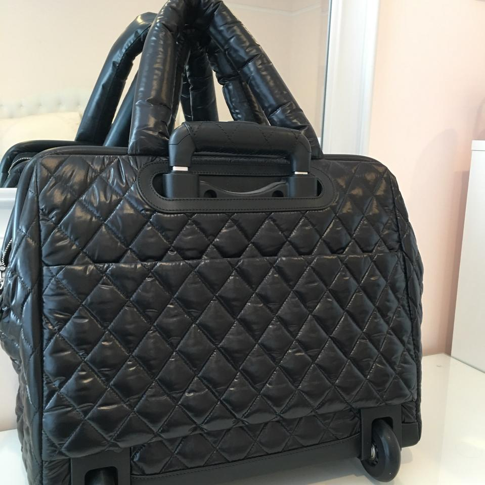 a4fdf09b5f Chanel Cocoon Coco Trolley On Wheels Black Nylon Weekend/Travel Bag -  Tradesy