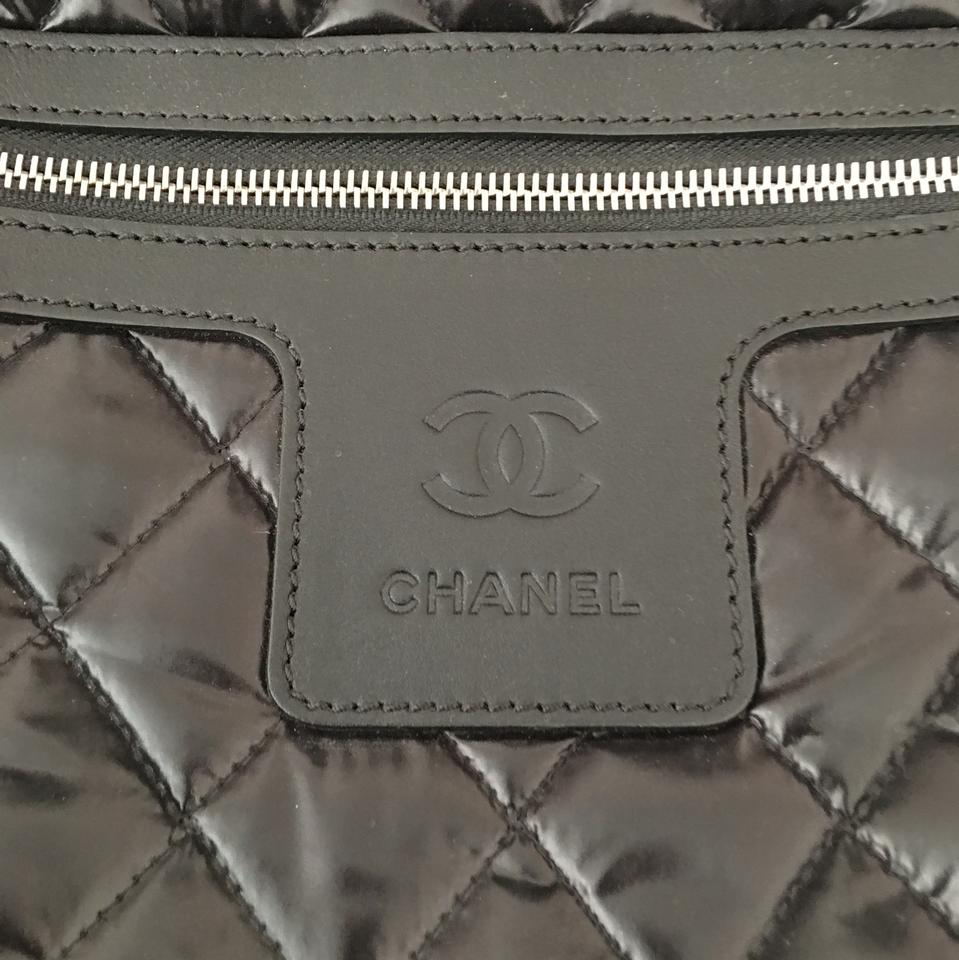 f64af7b063 Chanel Cocoon Coco Trolley On Wheels Black Nylon Weekend/Travel Bag ...