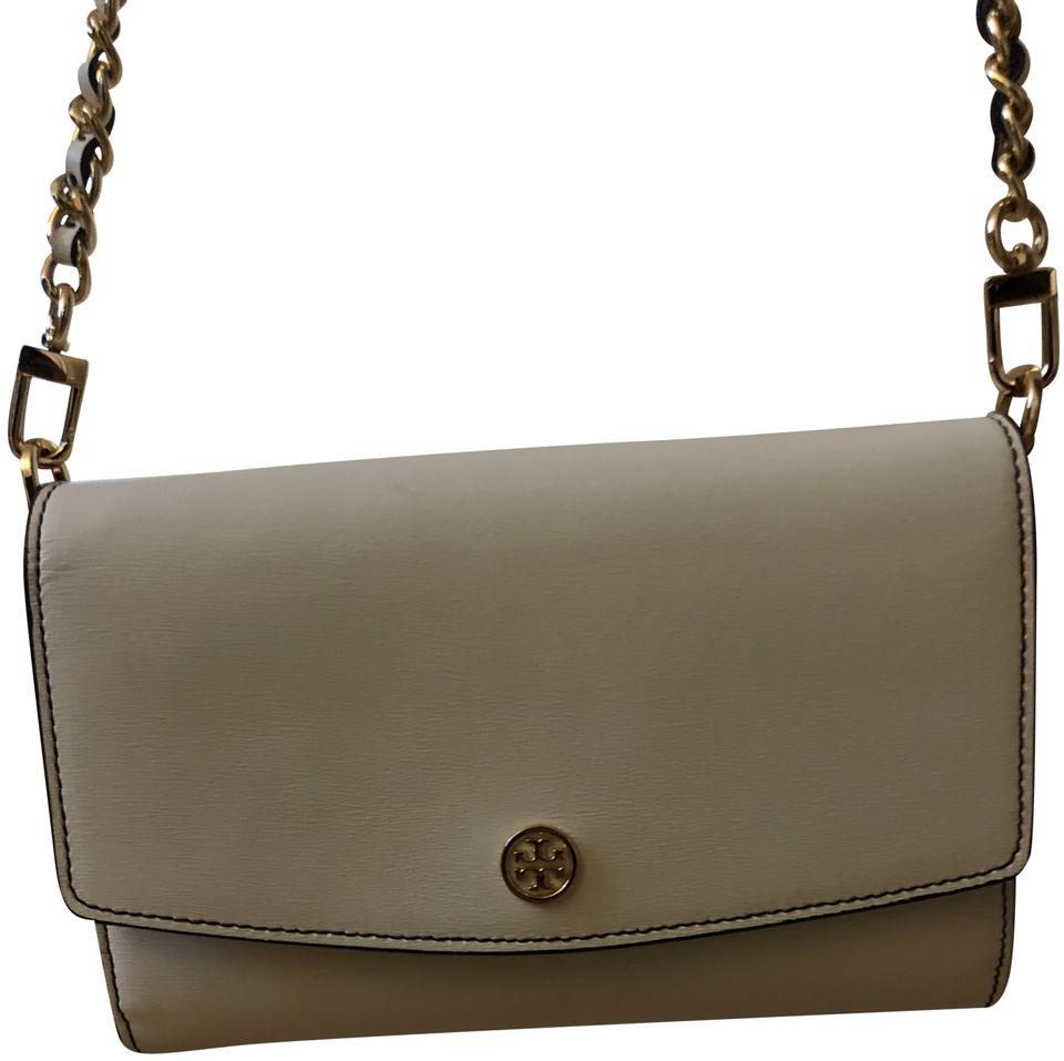 106381cefd0c Tory Burch Parker Chain Wallet Ivory Leather Cross Body Bag - Tradesy