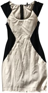 Express short dress beige/nude and black on Tradesy