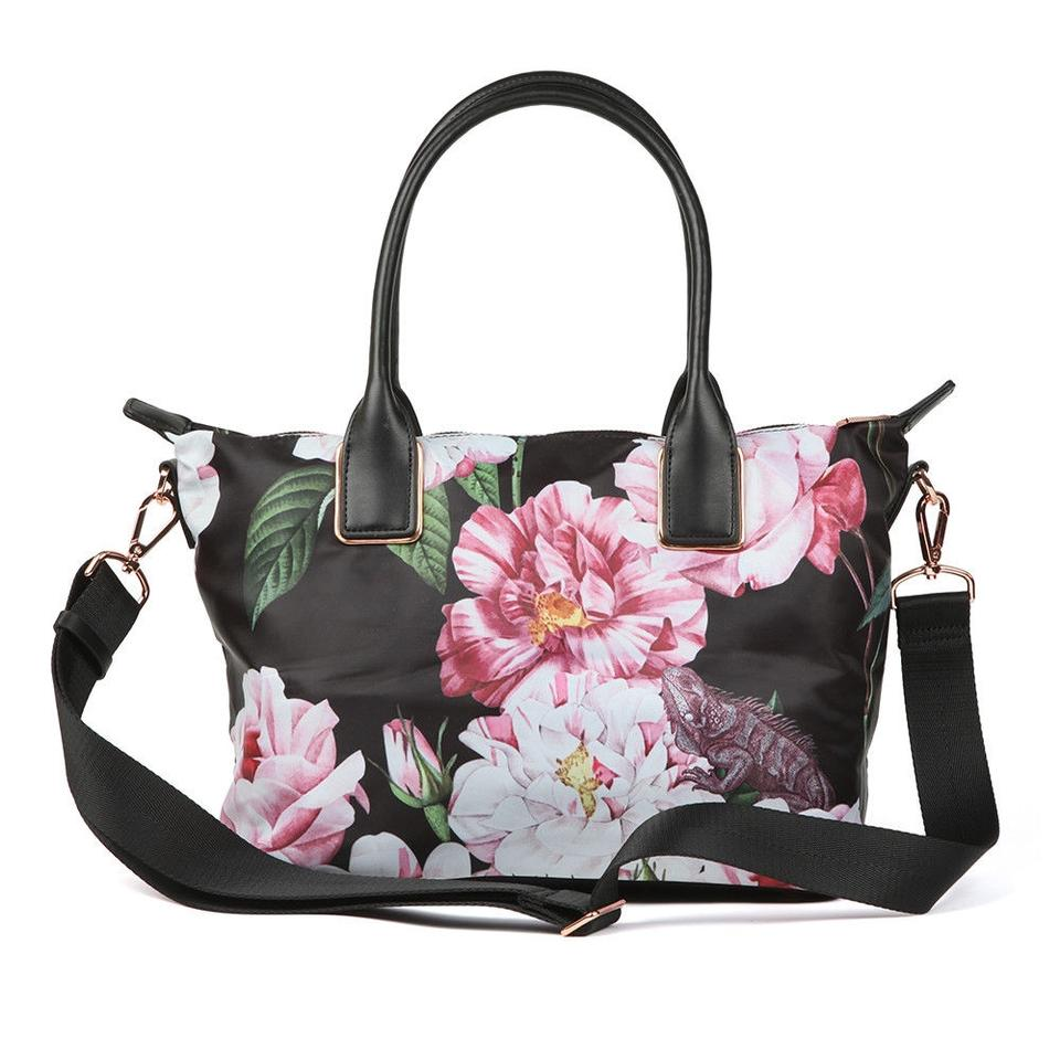 f5f356af2a Ted Baker Rose Gold Hardware Shopper Small Iguazu Floral Tote in Black  Image 0 ...