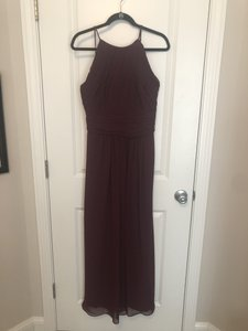Bill Levkoff Wine Chiffon 7018 Formal Bridesmaid/Mob Dress Size 14 (L)