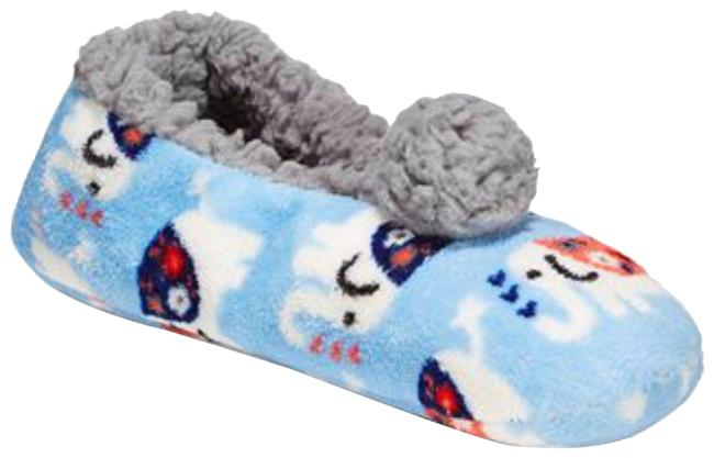 Item - Blue Pj Girls / Women's Elephant-print Slipper S (5-6) Flats Size US 5.5 Regular (M, B)