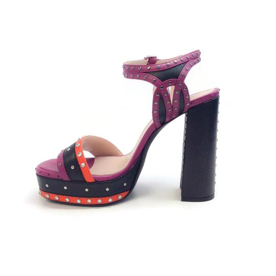Lanvin Purple / Black / Red Sandals
