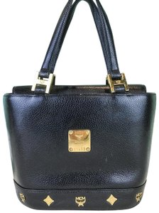 MCM Leather Mini Tote in Black