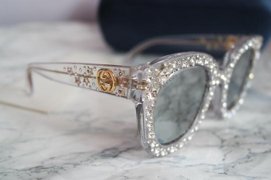 Gucci NEW Gucci GG0116S Oversized Crystal Star Mirrored Sunglasses
