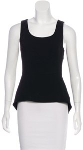 Rag & Bone Peplum And Chic Chic And Simple Top Black