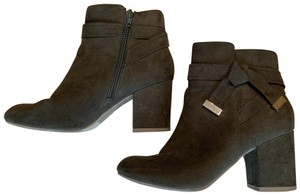REPORT Suede Bow Olive Boots