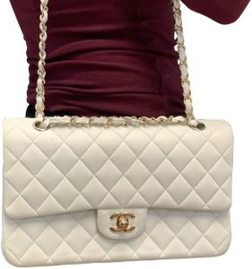 fa67b378137ae9 Chanel 2.55 Reissue Double Flap Vintage 9 Inch Classic White Leather ...