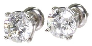 3.47ct I2 I color Solitaire Diamond Earrings