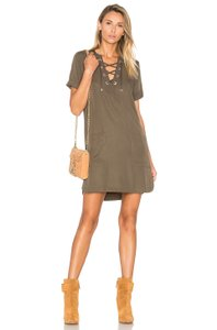 Lovers + Friends Lace-up Pockets Dress
