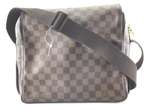82b6deaba35b Louis Vuitton Naviglio  24390 Two Way Cross Body Or Shoulder Damier ...