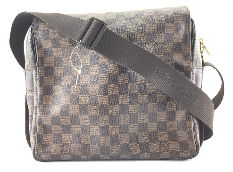 79f61a8bfb87 Louis Vuitton Naviglio  24390 Two Way Cross Body Or Shoulder Damier ...
