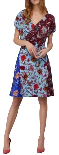 Item - Multicolor 11173dvf Canton Electric Blue Short Night Out Dress Size 2 (XS)
