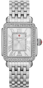 Michele NEW Deco Madison Diamond Dial Steel MWW06T000163 Ladies Watch