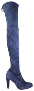 Stuart Weitzman Suede Highland Over-the-knee Nice Blue Boots