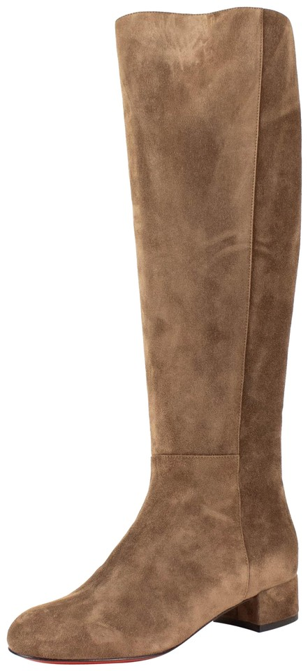 0987be87114e Christian Louboutin Brown  liliboot  Suede 30mm Boots Booties Size ...