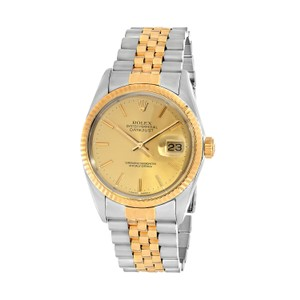 Rolex Rolex Mens Oyster Perpetual DATEJUST Two-Tone Yellow Gold & Stainless
