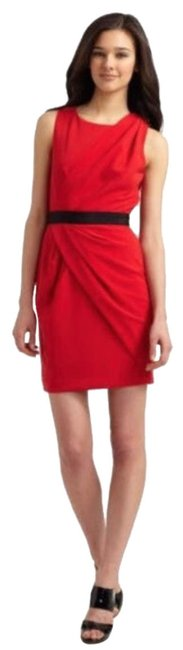 Item - Red Sleeveless Mid-length Cocktail Dress Size 2 (XS)