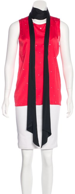 Item - Red Sleeveless Blouse Size 8 (M)
