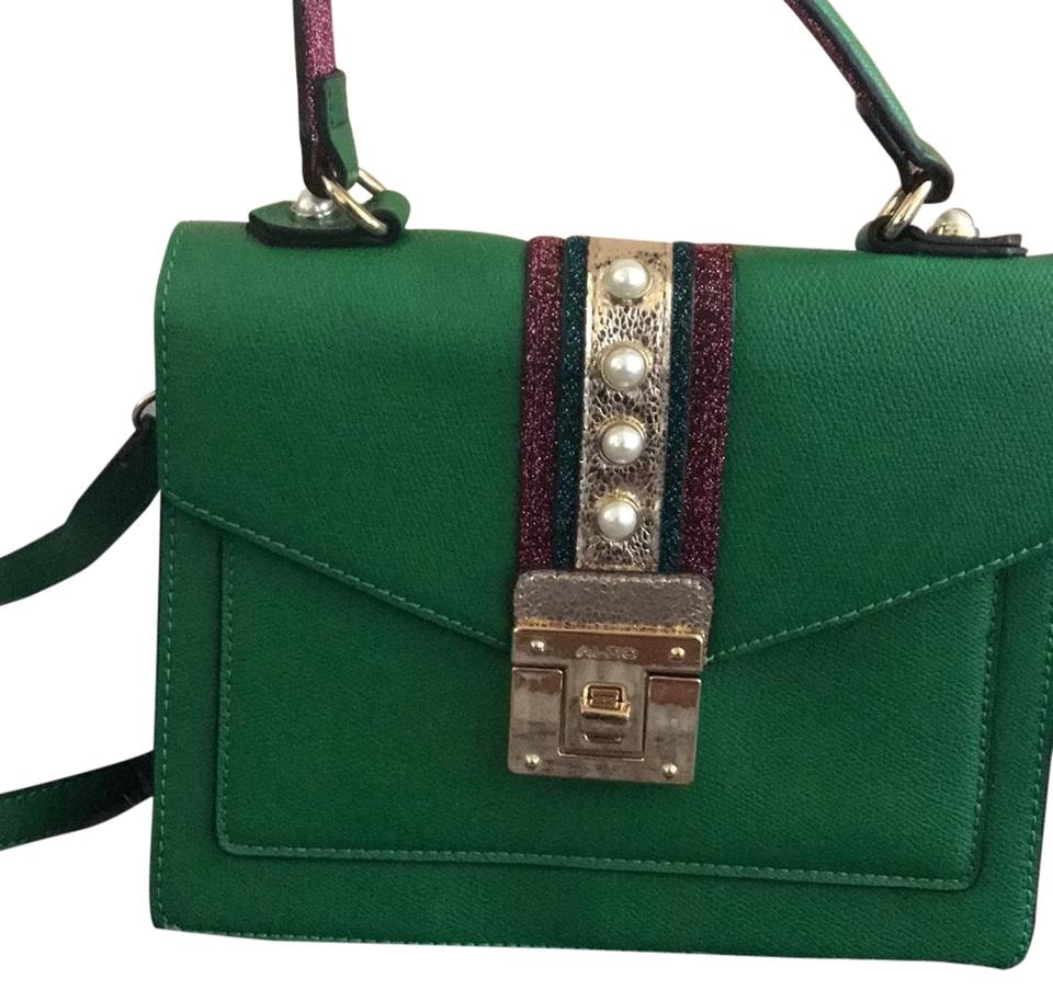 767ec36e3da ALDO Small Purse Green Vinyl Cross Body Bag - Tradesy