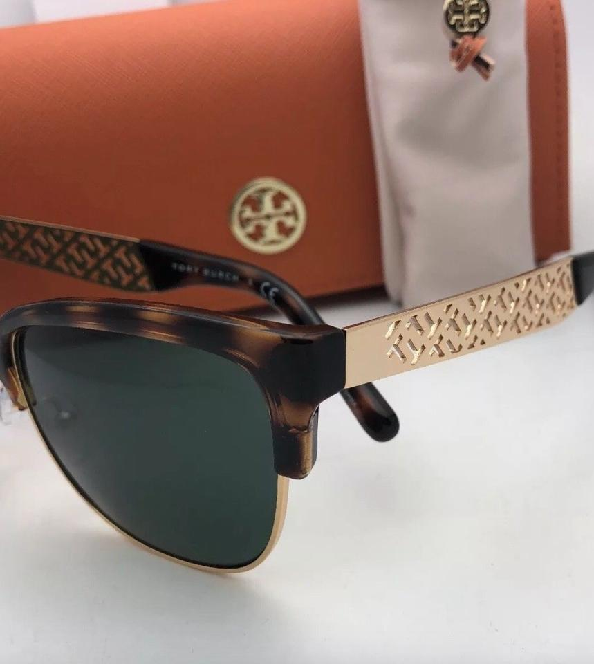 dc93b7ef301 Tory Burch New 6032 3016 71 56-18 Tortoise-gold Frame W  G15 Green ...