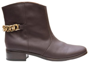 See by Chloé Luxury Leather Chain Winter Brown Boots
