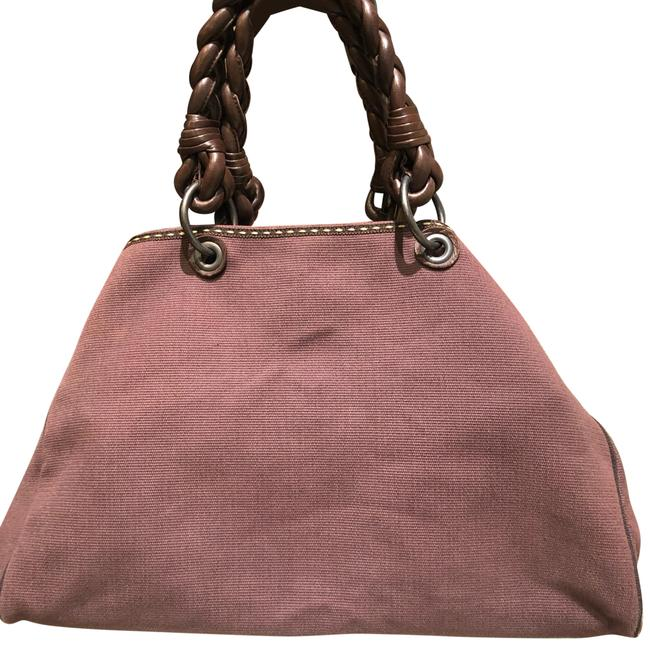 Item - Tote with Braided Handles Brown Canvas Hobo Bag