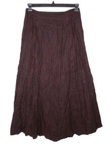 Sarah Pacini Gold Shimmer Bubble Maxi Skirt Brown